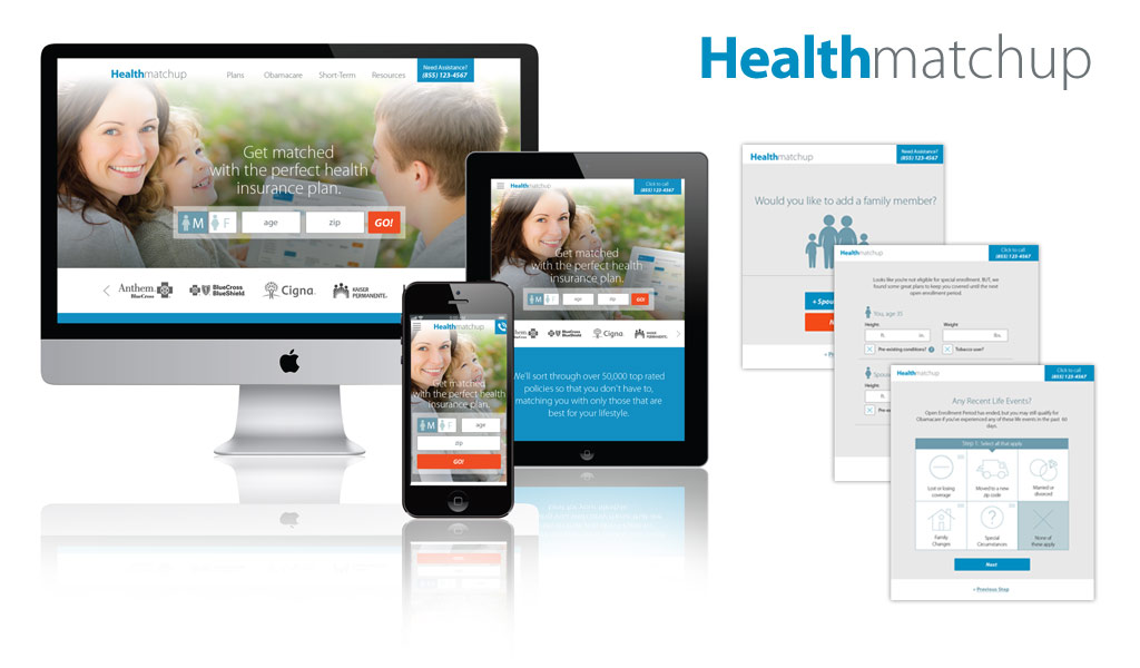 best responsive website design for health insurance companies